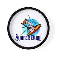 Surfer Dude Wall Clock