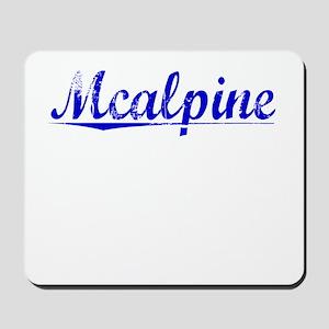 Mcalpine, Blue, Aged Mousepad