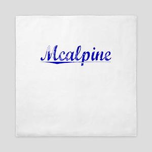 Mcalpine, Blue, Aged Queen Duvet