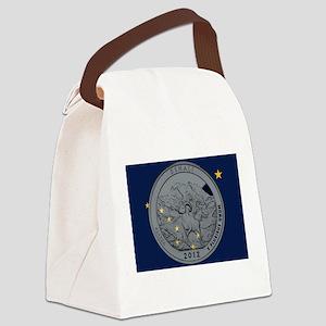 Alaska Quarter 2012 Canvas Lunch Bag