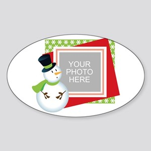 Personalized Christmas Sticker (Oval)