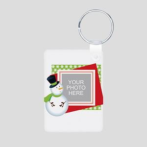 Personalized Christmas Aluminum Photo Keychain