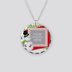 Personalized Christmas Necklace Circle Charm