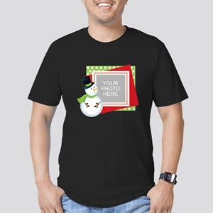 Personalized Christmas Men's Fitted T-Shirt (dark)