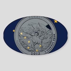 Alaska Quarter 2012 Sticker (Oval)