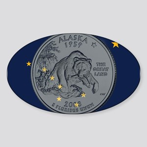 Alaska Quarter 2008 Sticker (Oval)