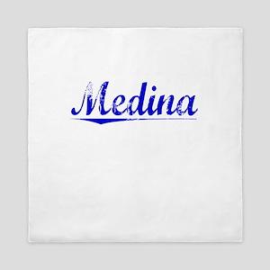 Medina, Blue, Aged Queen Duvet