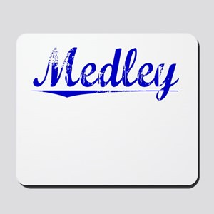 Medley, Blue, Aged Mousepad