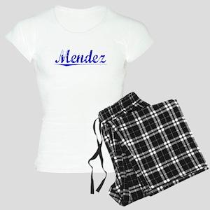 Mendez, Blue, Aged Women's Light Pajamas