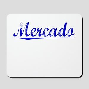 Mercado, Blue, Aged Mousepad