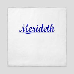 Merideth, Blue, Aged Queen Duvet