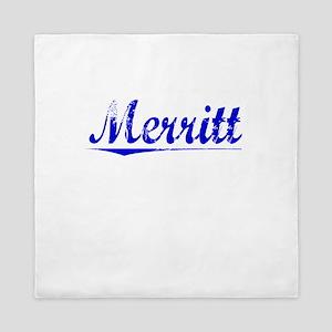 Merritt, Blue, Aged Queen Duvet