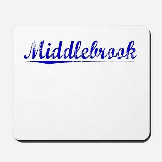 Middlebrook, Blue, Aged Mousepad