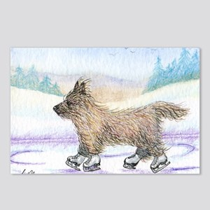 Cairn Terrier ice skater Postcards (Package of 8)
