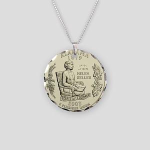 Alabama Quarter 2003 Basic Necklace Circle Charm