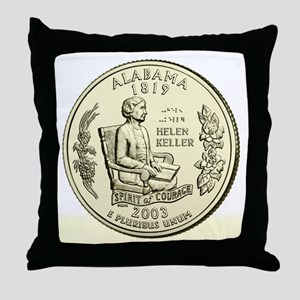 Alabama Quarter 2003 Basic Throw Pillow