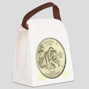 Alaska Quarter 2008 Basic Canvas Lunch Bag