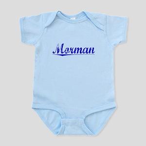 Morman, Blue, Aged Infant Bodysuit