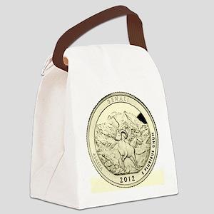 Alaska Quarter 2012 Basic Canvas Lunch Bag
