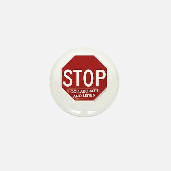 Stop Collaborate and Listen Mini Button