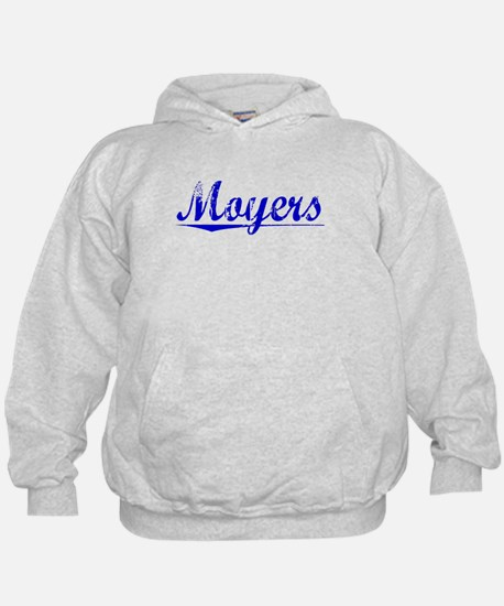 Moyers, Blue, Aged Hoodie