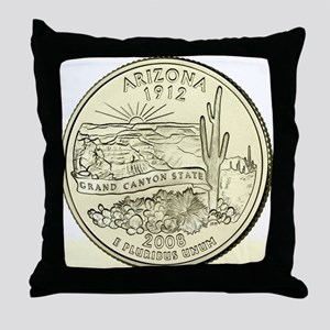Arizona Quarter 2008 Basic Throw Pillow