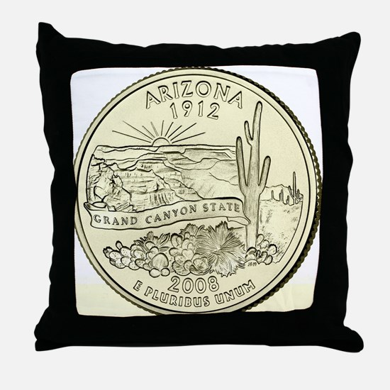 Arizona Quarter 2008 Basic Throw Pillow