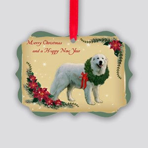 Great pyrenees Picture Ornament - Merry Christmas