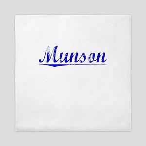 Munson, Blue, Aged Queen Duvet