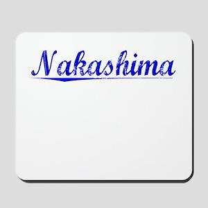 Nakashima, Blue, Aged Mousepad