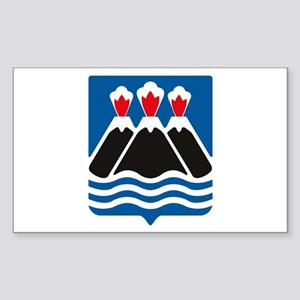 Kamchatka Coat of Arms Rectangle Sticker