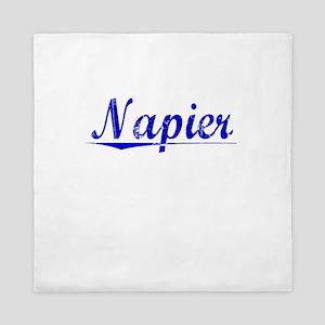 Napier, Blue, Aged Queen Duvet