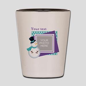 Personalized Christmas Snowman Shot Glass