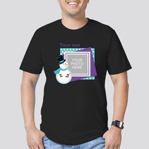 Personalized Christmas Snowman Men's Fitted T-Shir