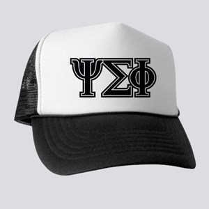 Psi Sigma Phi Letters Trucker Hat