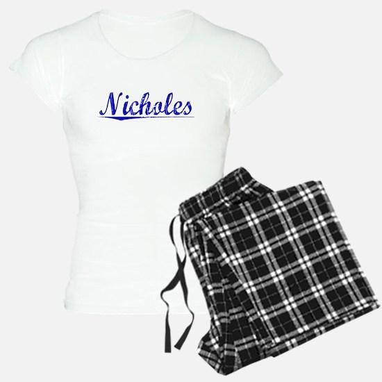Nicholes, Blue, Aged Pajamas