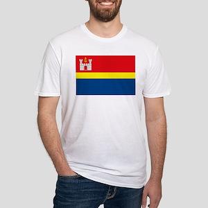 Kaliningrad Flag Fitted T-Shirt
