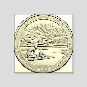 """Colorado Quarter 2014 Basic Square Sticker 3"""" x 3"""""""