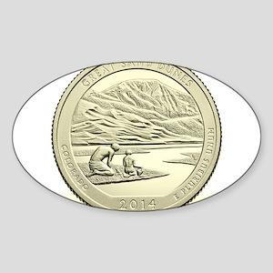 Colorado Quarter 2014 Basic Sticker (Oval)