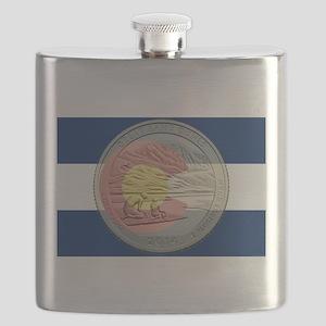Colorado Quarter 2014 Flask