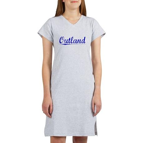 Outland, Blue, Aged Women's Nightshirt