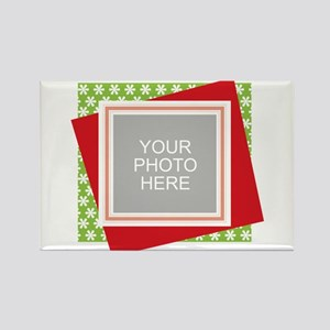 Personalized Christmas Snowman Rectangle Magnet