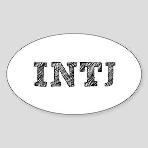 INTJ New! Oval Sticker