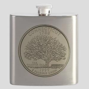 Connecticut Quarter 1999 Basic Flask