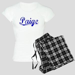 Paige, Blue, Aged Women's Light Pajamas