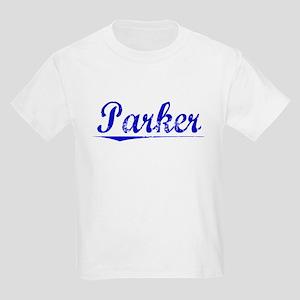 Parker, Blue, Aged Kids Light T-Shirt