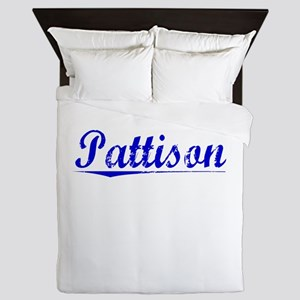 Pattison, Blue, Aged Queen Duvet