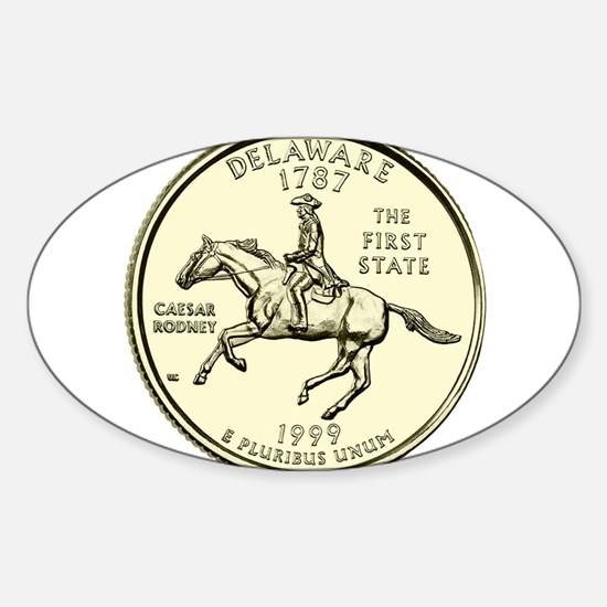 Delaware Quarter 1999 Basic Sticker (Oval)