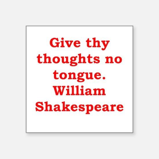 "william shakespeare Square Sticker 3"" x 3"""