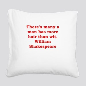 william shakespeare Square Canvas Pillow
